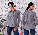 Женская принтованная классическая рубашка 55ru209, фото 3