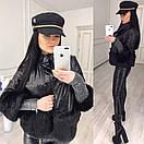 Женская демисезонная куртка с вставками меха 58kr185, фото 2