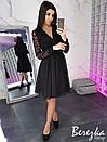 Платье с пышной юбкой из сетки с кружевом 66py2383, фото 3
