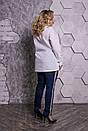 Женская рубашка в больших размерах с карманами на груди и пайеткой 10ba1385, фото 3