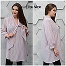 Женская удлиненная рубашка в принт в больших размерах 6ba1397, фото 5