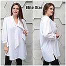 Женская удлиненная рубашка в принт в больших размерах 6ba1397, фото 6