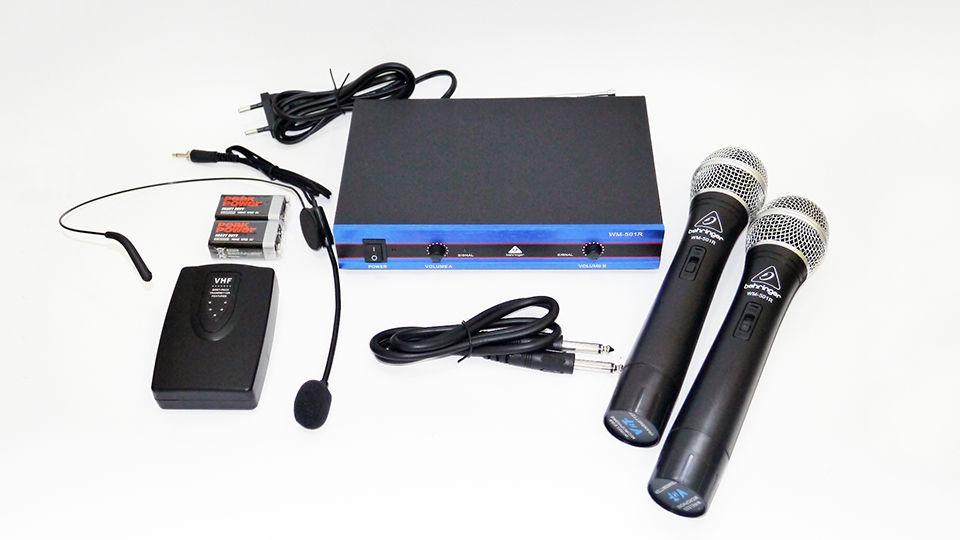 Радиосистема Behringer WM-501R с гарнитурой база 2 радиомикрофона