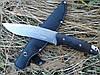 Охотничий нож S037A, прочная конструкция, надежная рукоять, чехол в комплекте