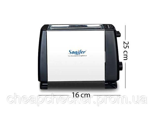 Автоматический Тостер для Хлеба на 2 Слота Sonifer 2 Slice Toaster SF6007