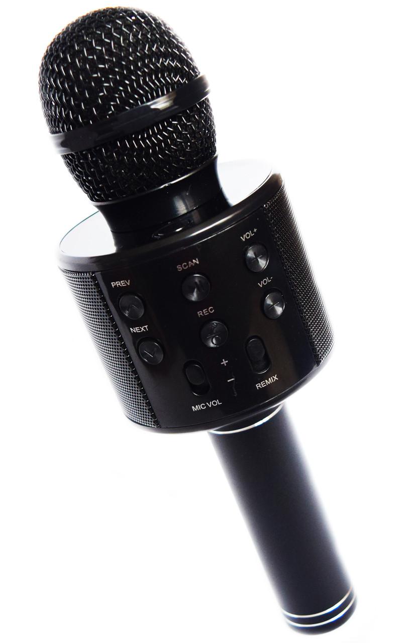 Микрофон для караоке WS-858 портативная колонка колонкой
