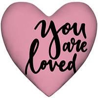 Подушка-серце, 2 розміри+3D - You are loved, фото 1