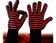 Термостойкие Защитные Силиконовые Нескользящие Перчатки для Барбекю Гриля BBQ Gloves, фото 1