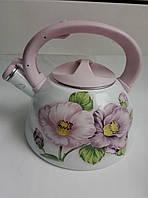 Эмалированный чайник со свистком  3л