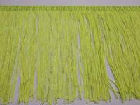 УЦІНКА!!! Бахрома танцювальна жовта неонова (лапша, локшина) для одягу 15 см, тасьма 1 см, довжина ниток 14 см, фото 1