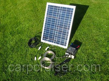 Походная Мини Электростанция 10-40W-12V на солнечных батареях, солнечных панелях, банк солнечной энергии для зарядки телефона, планшета, фотоаппарата, видеокамеры, освещения вашего лагеря, кемпинга, шатра, палатки, беседки, на природе, на даче...