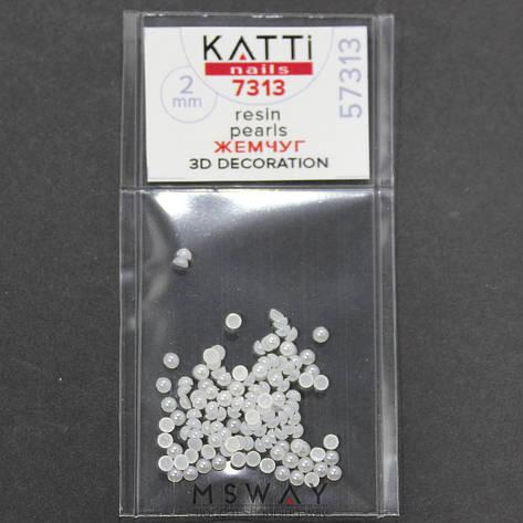 KATTi Жемчуг пакет смола Pearls 7313 snow white 2мм 120шт, фото 2