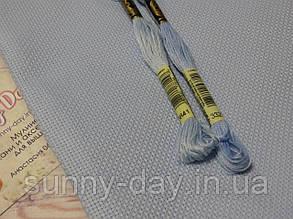 Канва для вышивки Аида 14, голубая, 50*50см