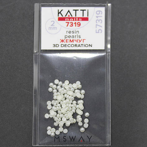 KATTi Жемчуг пакет смола Pearls 7319 beige 2мм 120шт, фото 2