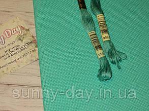 Канва  для вышивки Аида 14, мятная, 50*50см