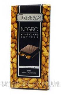 Шоколад черный с цельным миндалем Torras Испания 200г