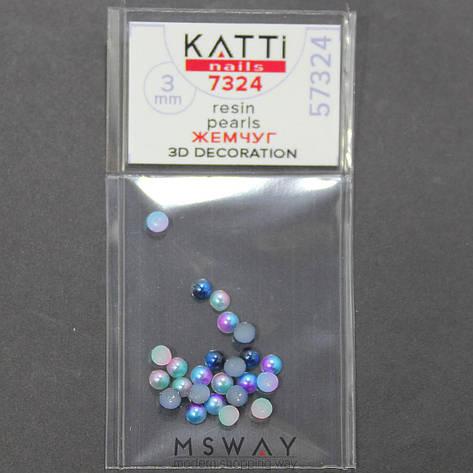 KATTi Жемчуг пакет смола Pearls 7324 duocolor mix 3мм, фото 2