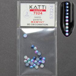 KATTi Жемчуг пакет смола Pearls 7324 duocolor mix 3мм