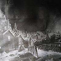 Эко сумка  хозяйственная с замочком надпись цветочная вечера на хуторе черн фон (спанбонд)