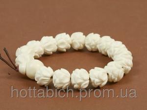 Четки браслет белые из кости