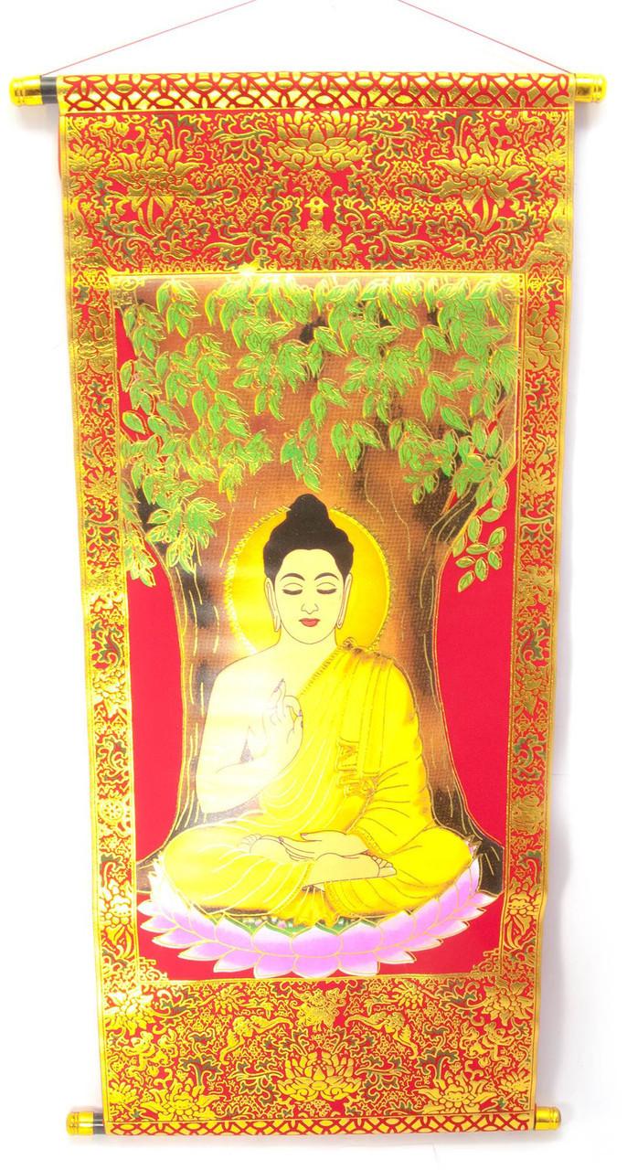 Красное панно Будда