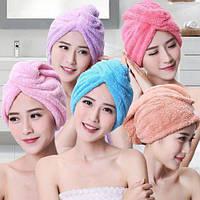 Полотенце - чалма , тюрбан для сушки волос , полотенце для головы