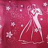 Эко-сумка  с замочком розовая вальс розовая(спанбонд)32*29*8