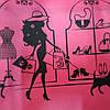 Эко сумка  хозяйственная с замочком девушка с собачкой (спанбонд)