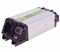 Преобразователь напряжения 12V-220V, 300 Вт, USB-5VDC2.0A, мод.волна, клеммы Pulso IMU 320