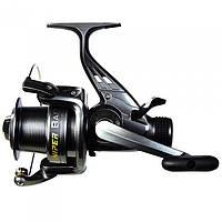 Катушка безинерционная для удилища Salmo Sniper Baitfeeder 4 3050BR / Катушка для рыбалки черного цвета