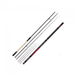 Фідерне вудилище FEEDER CONCEPT TOURNAMENT RIVER 130 130/4.20 (4 tips) для риболовлі чорного кольору
