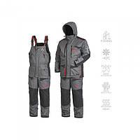 Зимний костюм мужской Norfin DISCOVERY HEAT для рыбалки и охоты серого цвета
