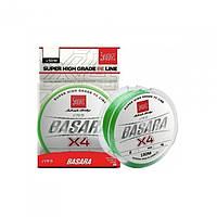 Шнур для удилища Lucky John Basara Light Green 150м/0.19мм/13.9кг / Шнур плетеный для рыбалки