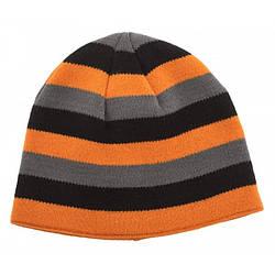 Шапка чоловіча Norfin Discovery Gray чорно сіро оранжевого кольору