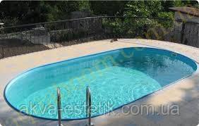 Овальний басейн TOSCANA 3,20x6,00x1,5 плівка 0,8 мм