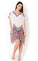 Белое пляжное платье для женщин Vacanze Italiane VI8-031 One Size Белый Vacanze Italiane VI8-031
