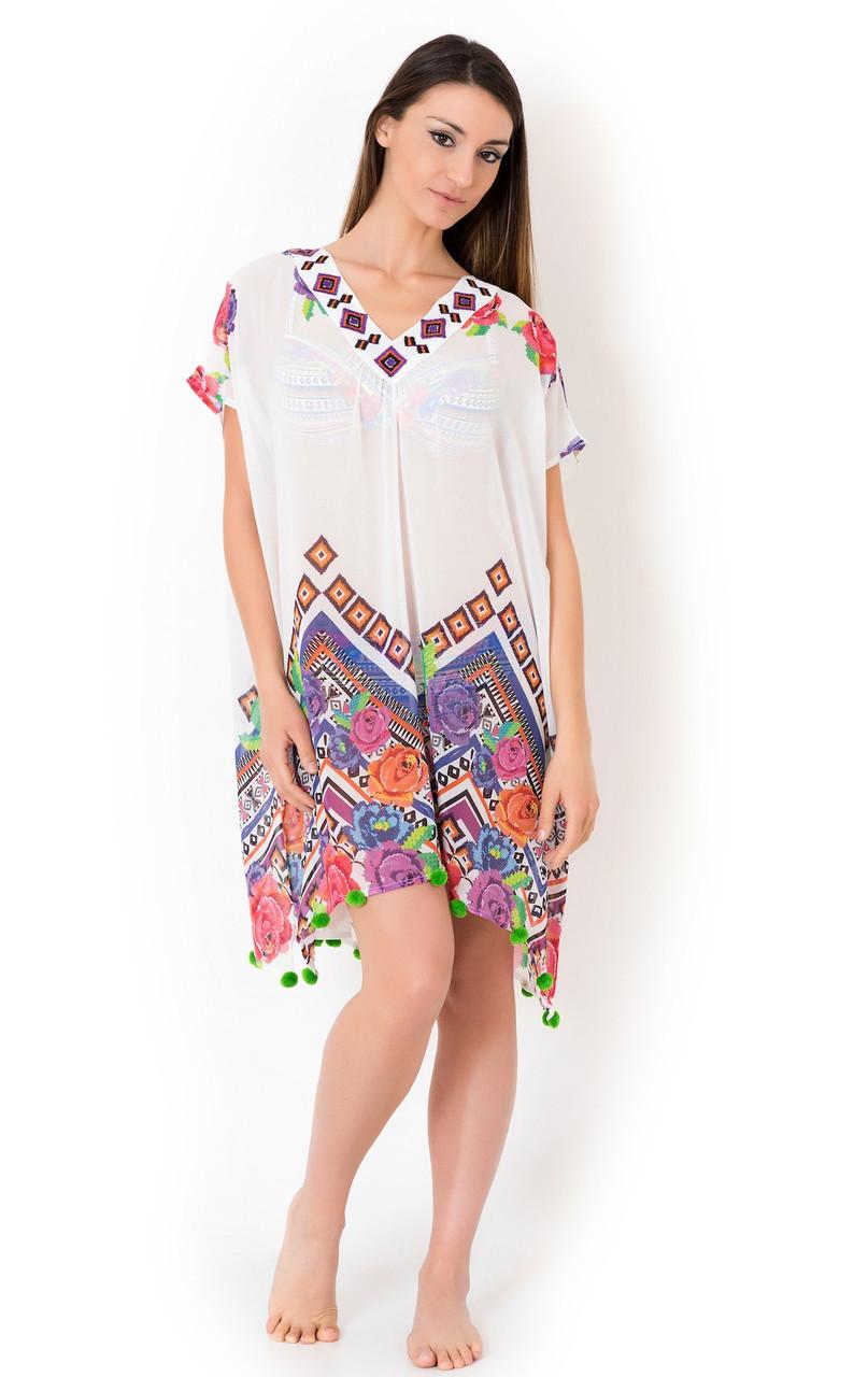 edabe8011c4d7fb Белое пляжное платье для женщин Vacanze Italiane VI8-031 One Size Белый  Vacanze Italiane VI8