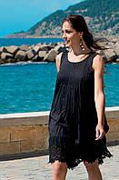 Черное пляжное платье без рукавов Iconique IC7 009 42(S) Черный Iconique IC7 009