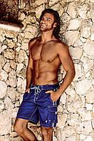 Длинные пляжные шорты с карманами David DM7-034 50(L) Синий David DM7-034