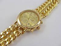 Часы женские наручные Michael Kors MK-10260 золотистые с плетеным браслетом
