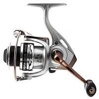 Катушка безинерционная для удилища Lucky John MAKORA SPIN 8 1500FD / Катушка для рыбалки серебристого цвета