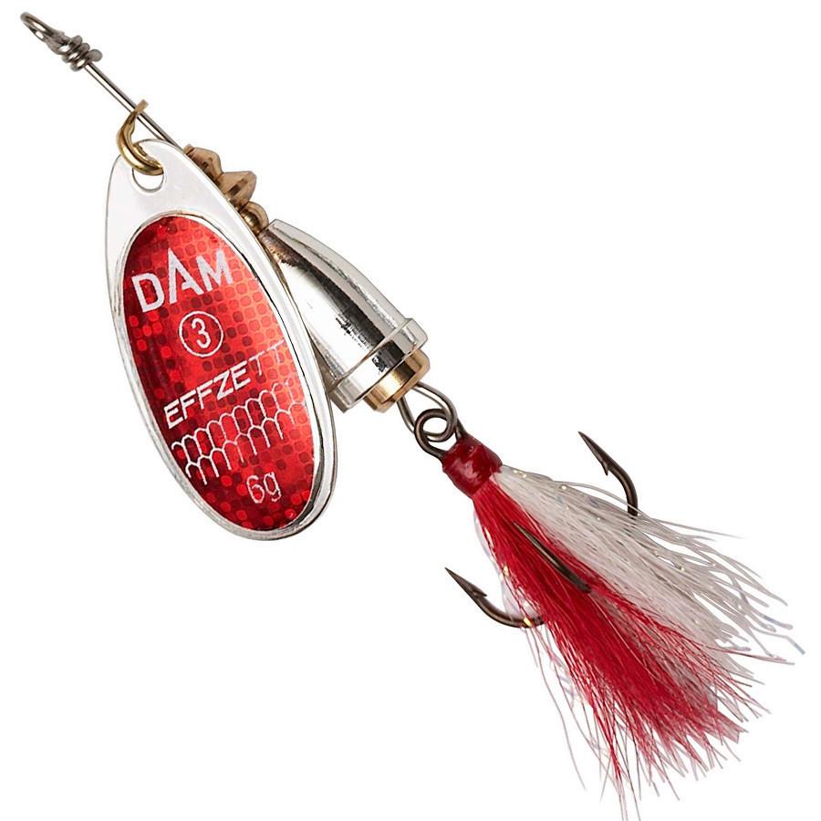 Блесна-вертушка DAM Effzett Executor с бородкой 4гр (reflex red)