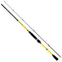 Удилище для ловли на джиг-приманки Lucky John Progress JIG 27 8-27g/2.32m черно-желтого цвета для рыбалки