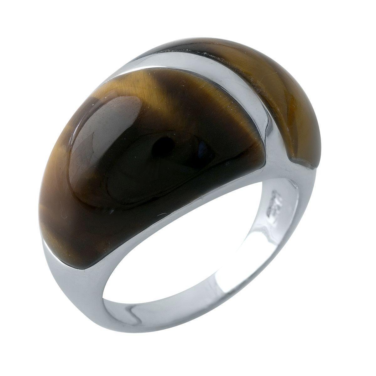 Родированное серебряное кольцо 925 пробы с натуральным аммолітом