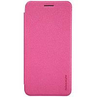Кожаный чехол книжка Nillkin Sparkle для Asus Zenfone C ZC451CG розовый