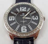 Часы женские наручные Perfect J110 серебристые с черным в стразах копия, фото 1