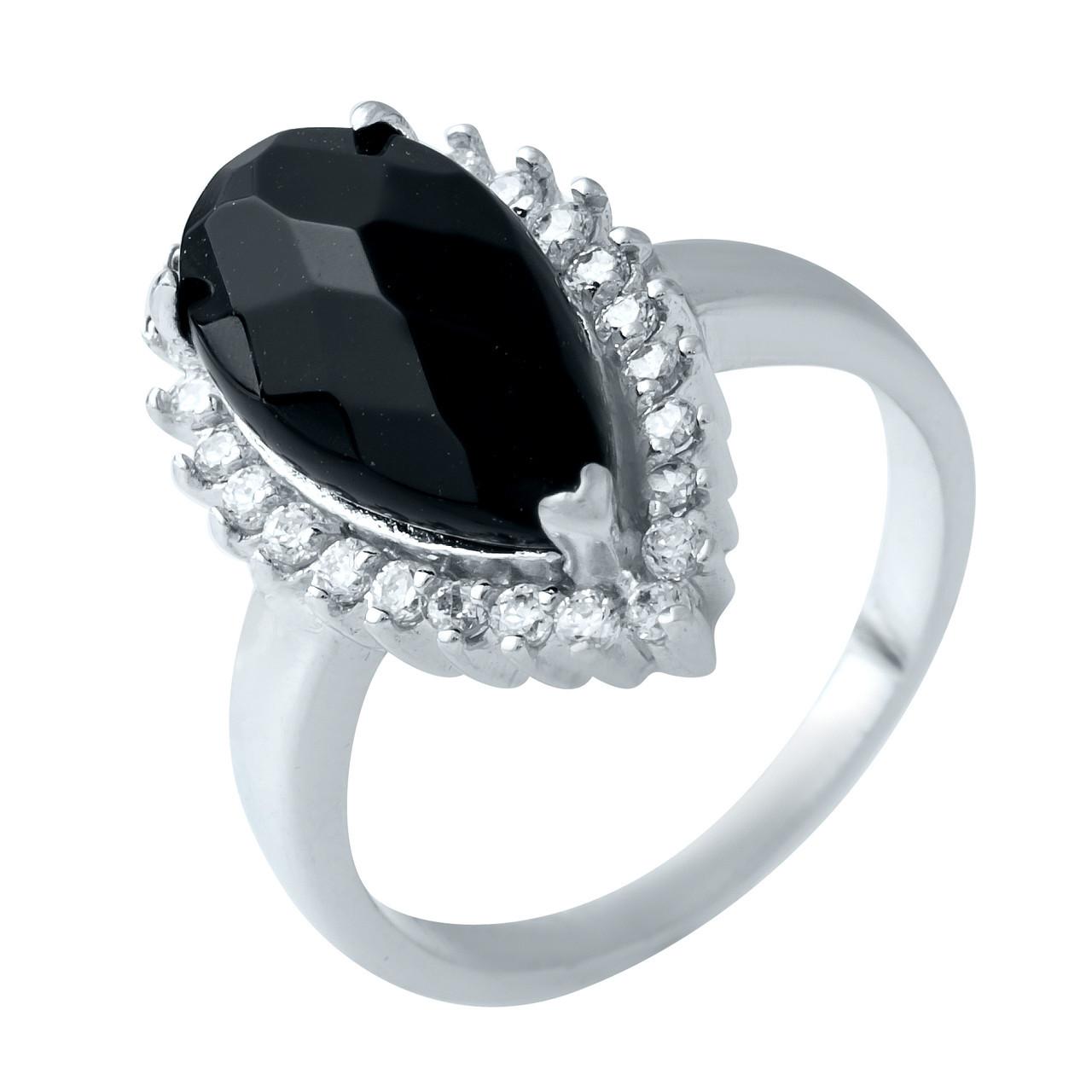 Родированное серебряное кольцо 925 пробы с натуральным авантюрином