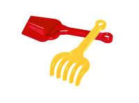 Игрушка набор лопатка + грабельки б технок