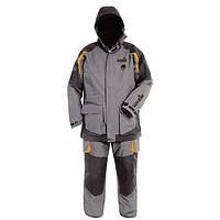 Зимний костюм мужской Norfin Extreme 3 для рыбалки и охоты черно серого цвета