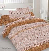 Ткань постельная Поликоттон - Кружева красные (M)